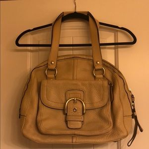 Cream coach handbag
